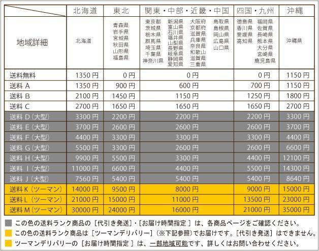 2016・スクエア送料表