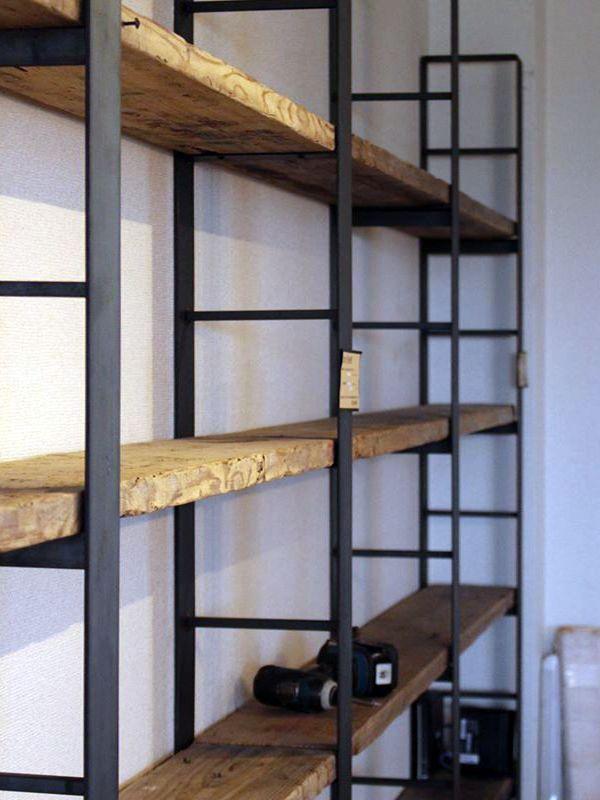 大型,壁面,ブック,シェルフ,棚,製作,販売