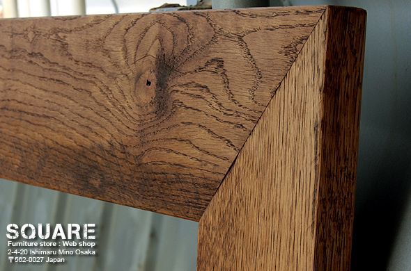 無垢木,オーク,フレーム,ミラー,鏡,製作 販売 通販