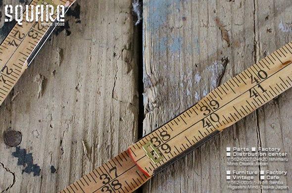 スウェーデン軍,デッドストック,折りたたみ,定規,スケール,木製,