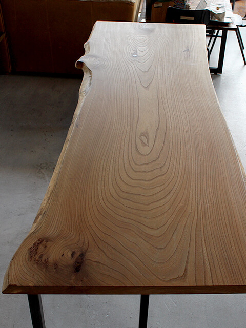 ニレ,無垢板,一枚板,テーブル天板,大阪