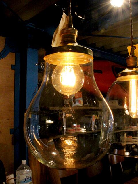 大きな,ガラス,吊り下げ,ライト