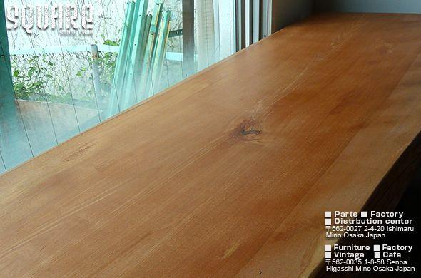 無垢一枚板,デスク,テーブル,桜,サクラ,さくら