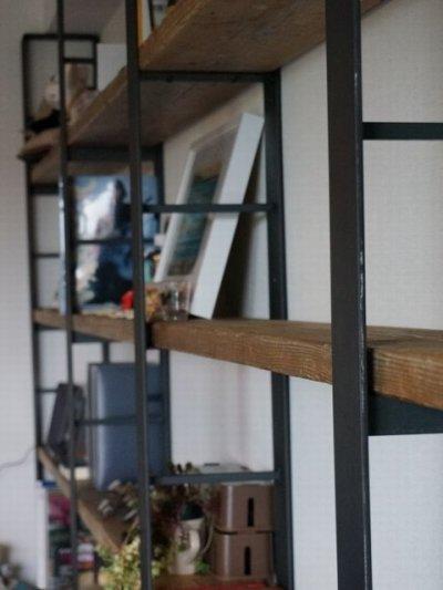 画像3: ≪シェルフ≫【ウォール・ブックシェルフ USED足場板×アイアン/2m×2m Ashiba-Book shelf】