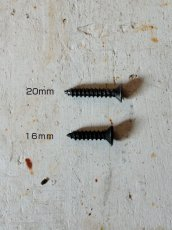 画像1: 送料無料!≪DIY素材≫【黒染皿ビス/Φ3.5×16 ・20/10本1セット】 (1)