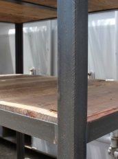 画像3: ≪ワゴン≫【キッチンワゴン USED足場板×黒皮仕様 アイアン/Used Ashiba Kitchen wagon】 (3)
