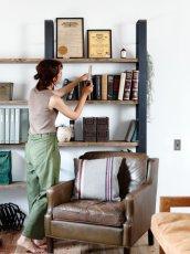 画像2: ≪シェルフ≫【ウォール・ブックシェルフ USED足場板×アイアン/2m×2m Ashiba-Book shelf】 (2)