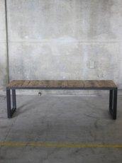 画像2: ≪ベンチ≫【USED足場板 鉄脚ベンチ 1脚】 (2)