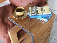 画像2: 送料無料!≪サイドテーブル≫【無垢オーク×アイアン コの字型/サイドテーブル/2サイズ】 (2)
