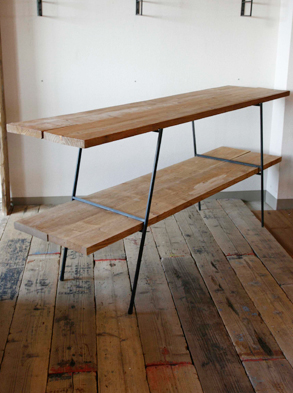画像1: 送料無料!≪アイアン家具≫【Flat-iron leg+杉板/4タイプ/セット販売】 (1)