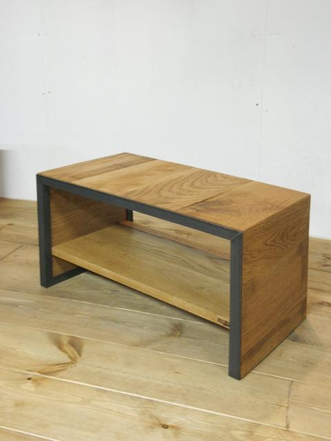 画像3: ≪サイドテーブル≫【無垢オーク×アイアン コの字型