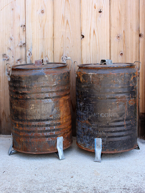 USED,ドラム缶,サビ,大きな,