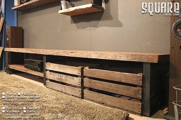 無垢木,天然木,一枚板,TV台,ローボード,AVボード,