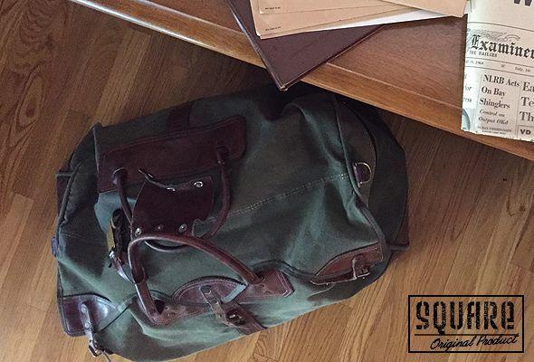 ORVIS,キャンバス×レザー,ボストンバッグ,USED,ビンテージ,レトロ,鞄