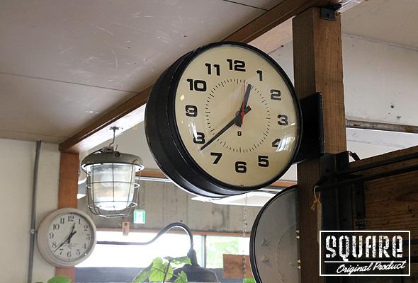 両面クロック,壁掛け時計,オールド,ヴィンテージ,アメリカン,