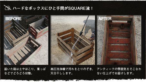 アンティーク 木箱 説明