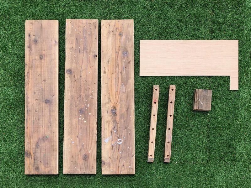 画像2: 送料無料!≪ローテーブル≫【USED足場板ローテーブルDIYキット/アイアン家具】 (2)