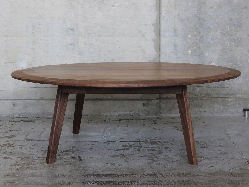 画像2: ≪ローテーブル≫【ラウンドローテーブル2面テーパー・木脚タイプ】 (2)