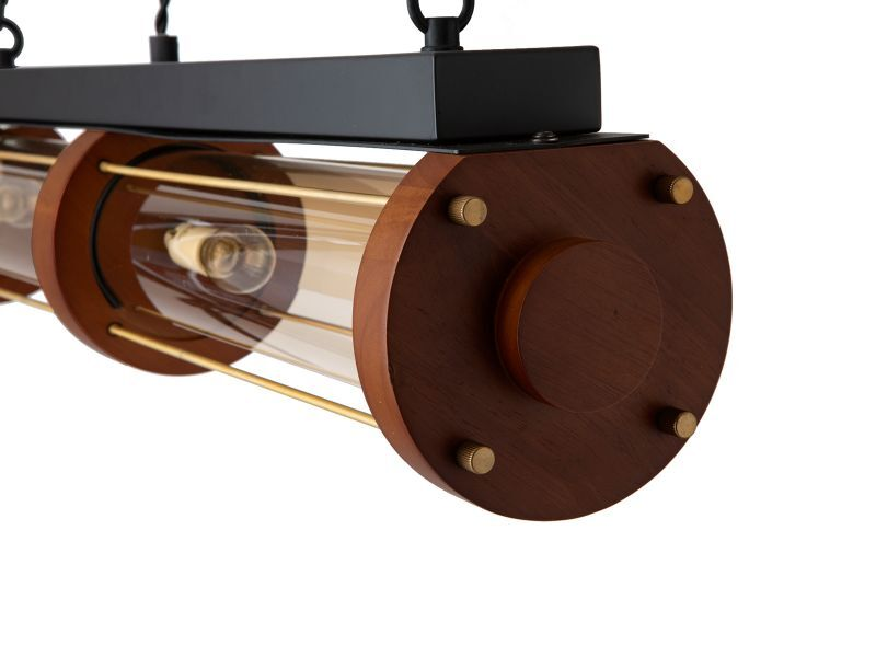 画像2: 送料無料!≪照明≫【シリンダーウッドランプ/Cylinder Wood Lamp//E17 60W×4個/1灯】 (2)