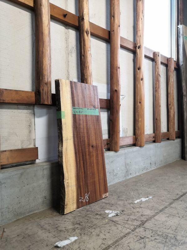 画像2: ≪未乾燥≫無垢一枚板 モンキーポッド  W855×D375~415×t35 (2)
